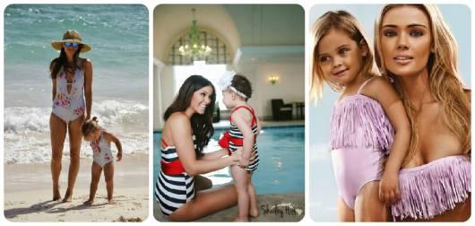 dicas e roupas de banho mãe e filha