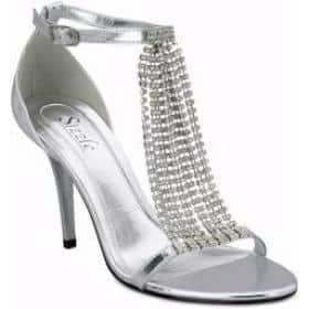 sandália prata para debutantes