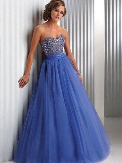 vestido azul royal debutante