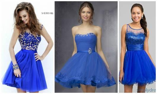 vestidos azul royal 15 anos
