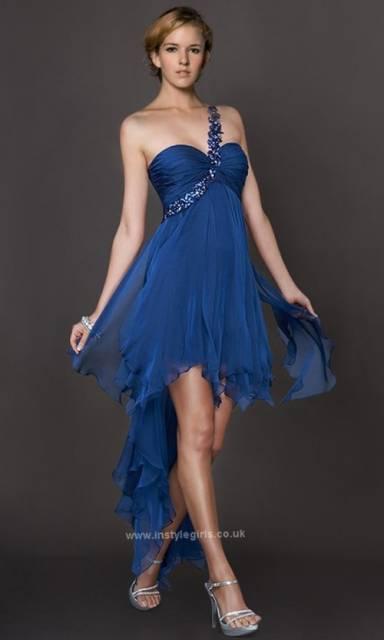 vestido azul petróleo debutante