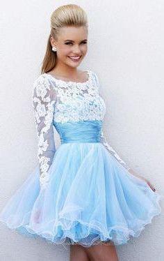 vestido curto azul bebê 15 anos