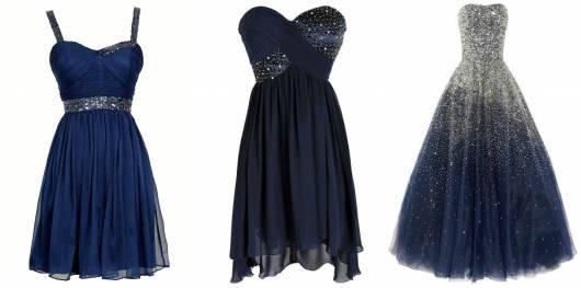 modelos de vestido azul marinho 15 anos
