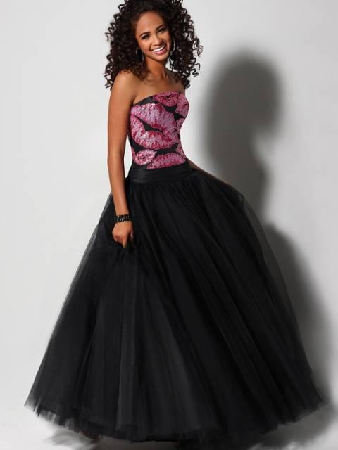 vestido preto e rosa para 15 anos