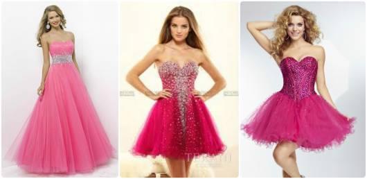vestidos de 15 anos rosa e bordado