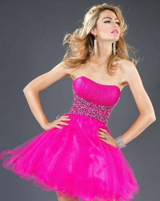 vestido pink e curto de 15 anos