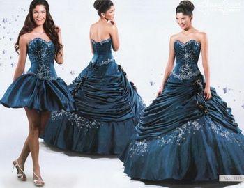 vestido de debutante com saia removível
