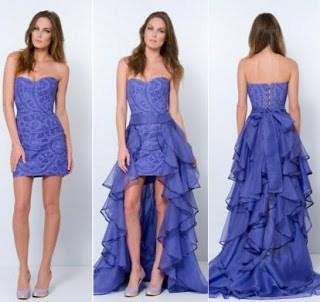 vestido azul royal 2 em 1 para 15 anos