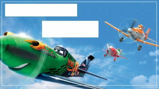 modelo de convite de festa aviões disney