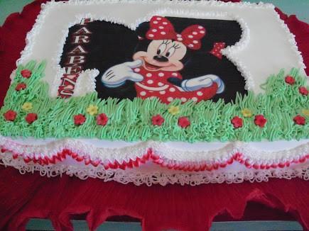 bolo decorado papel de arroz minnie