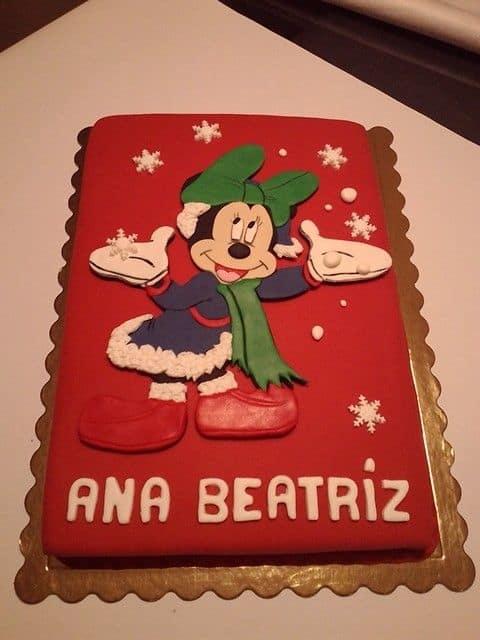 bolo pasta americana minnie vermelha