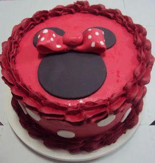 bolo simples vermelho minnie