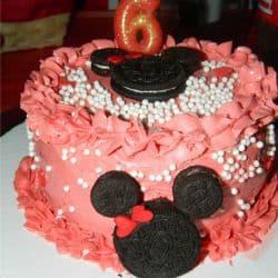 bolo minnie simples e vermelho