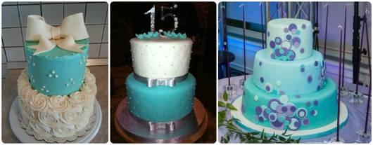 modelos de bolo 15 anos azul