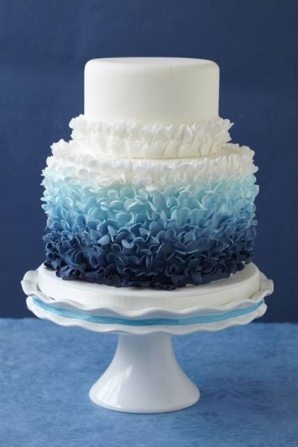 bolo 15 anos azul pasta americana