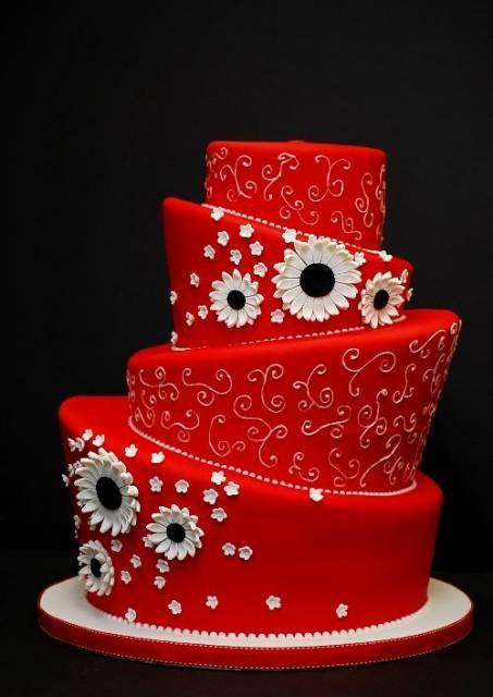 bolo 15 anos vermelho moderno