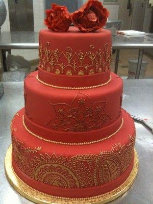 bolo 15 anos vermelho com andares