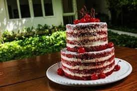 naked cake vermelho bolo 15 anos