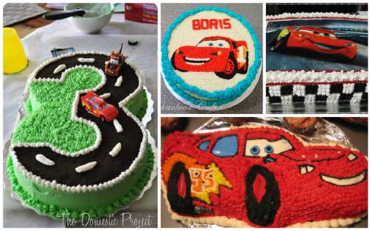 bolos decorados Carros Disney