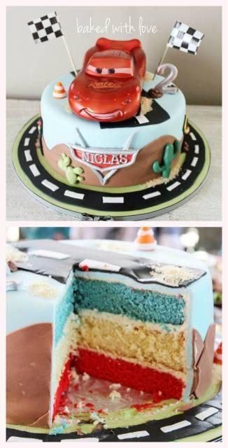 ideia para bolo Carros Disney