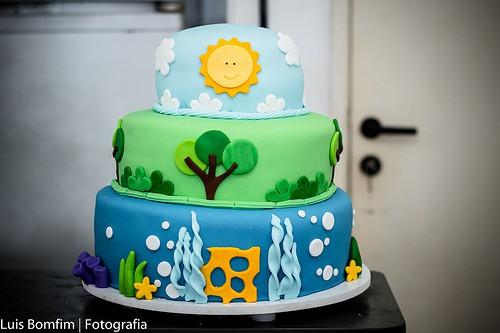 bolo decorado para festa peixonauta