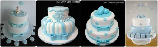 ideias de bolo azul e branco