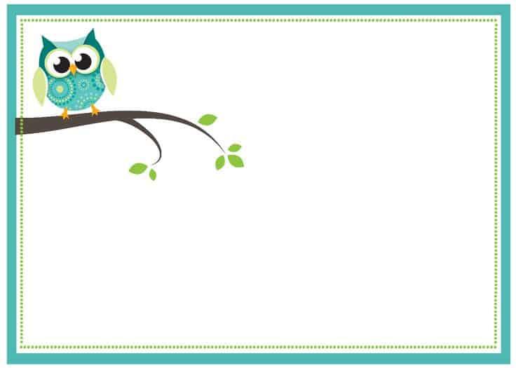 convite de corujinha azul