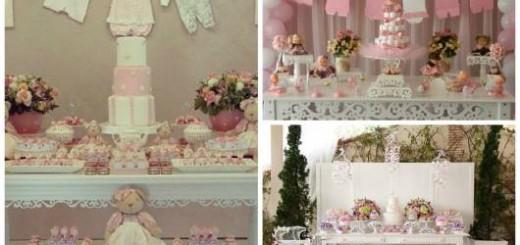 ideias para chá de bebê provençal menina