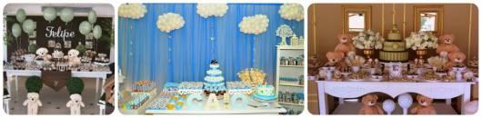 ideias para decorar chá de bebê provençal menino