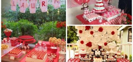 ideias decoração chá de bebê vermelho