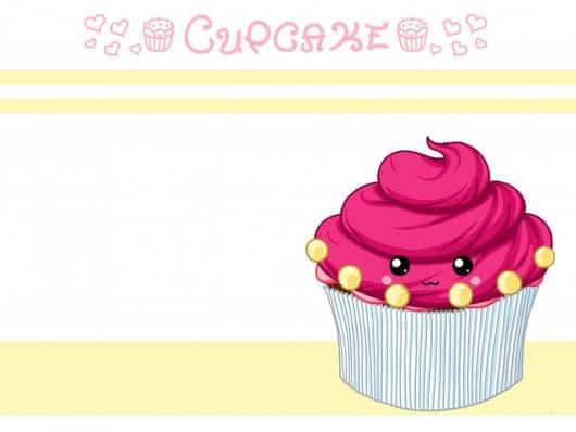 modelo de arte de convite da festa cupcake