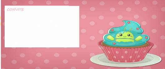 modelo de convite cupcakeland para imprimir