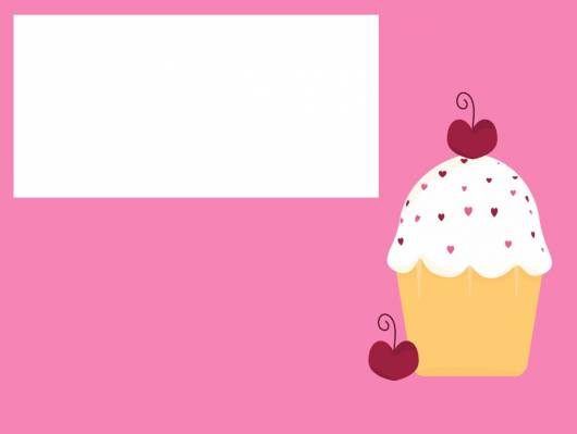 convite cupcake em arte simples pronto para imprimir