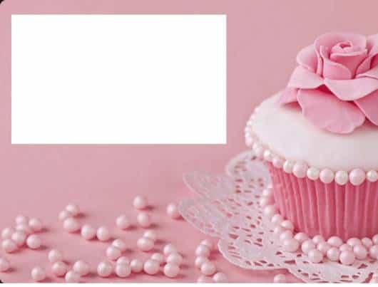 lindo convite da festa cupcake na cor rosa