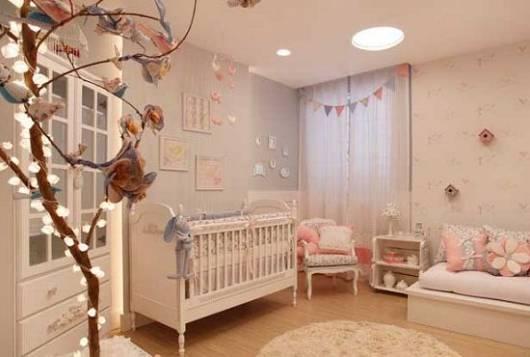 cortina de menina quarto de bebê