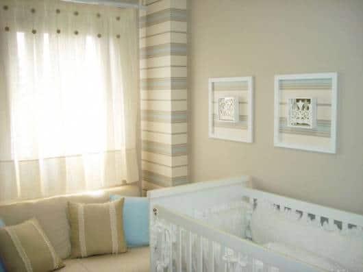 modelo de cortina simples quarto de bebê