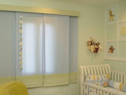 cortina painel para quarto de bebê