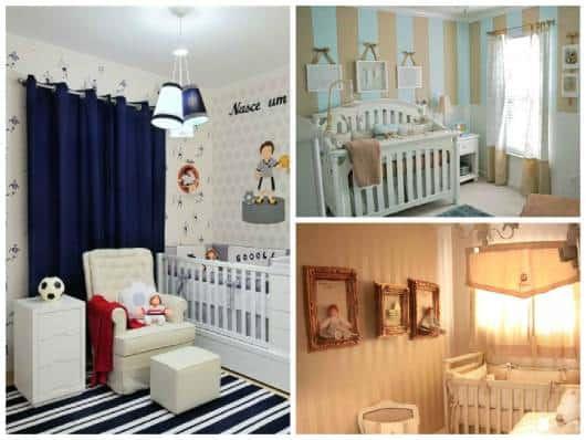 cortinas simples para quarto de bebê