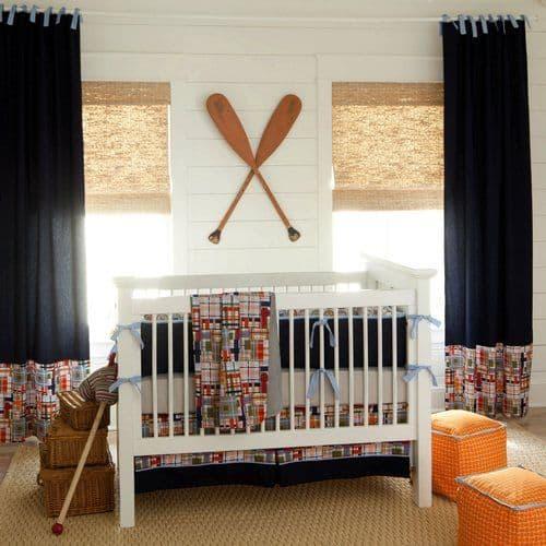 cortina azul para quarto de bebê menino