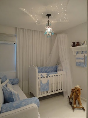 cortina embutida quarto de bebê menino