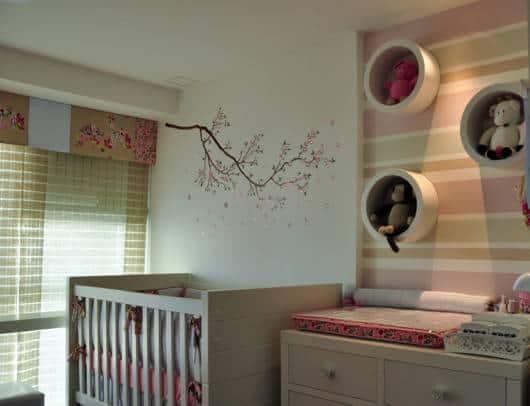 cortina painel em quarto de bebê