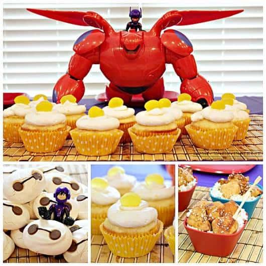 ideias de cupcake para festa big hero