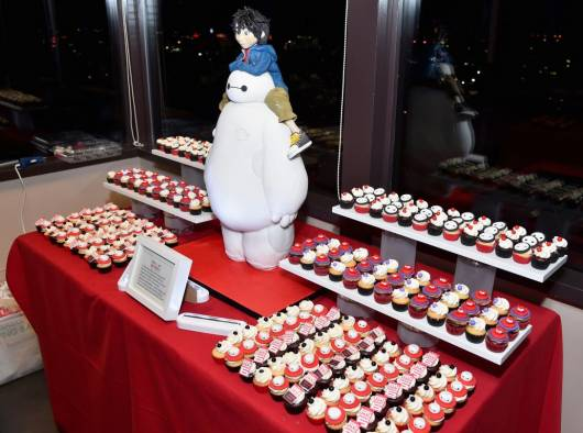 dica de mesa de cupcake big hero