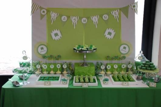 decoracao chá de bebê verde como fazer