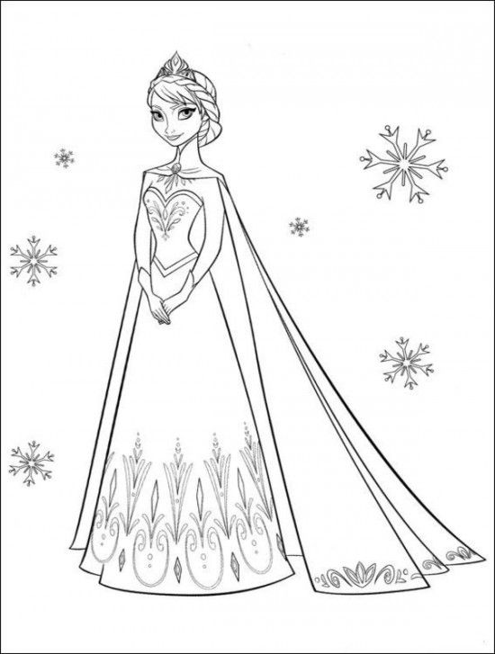princesa frozen colorir