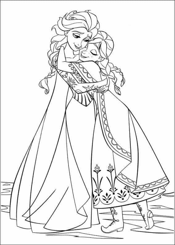 desenho princesa ana e elza