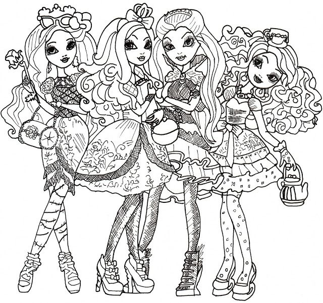 monster high para imprimir