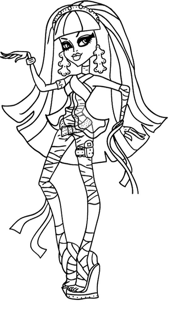 monster high coloring pages a4c - photo#12