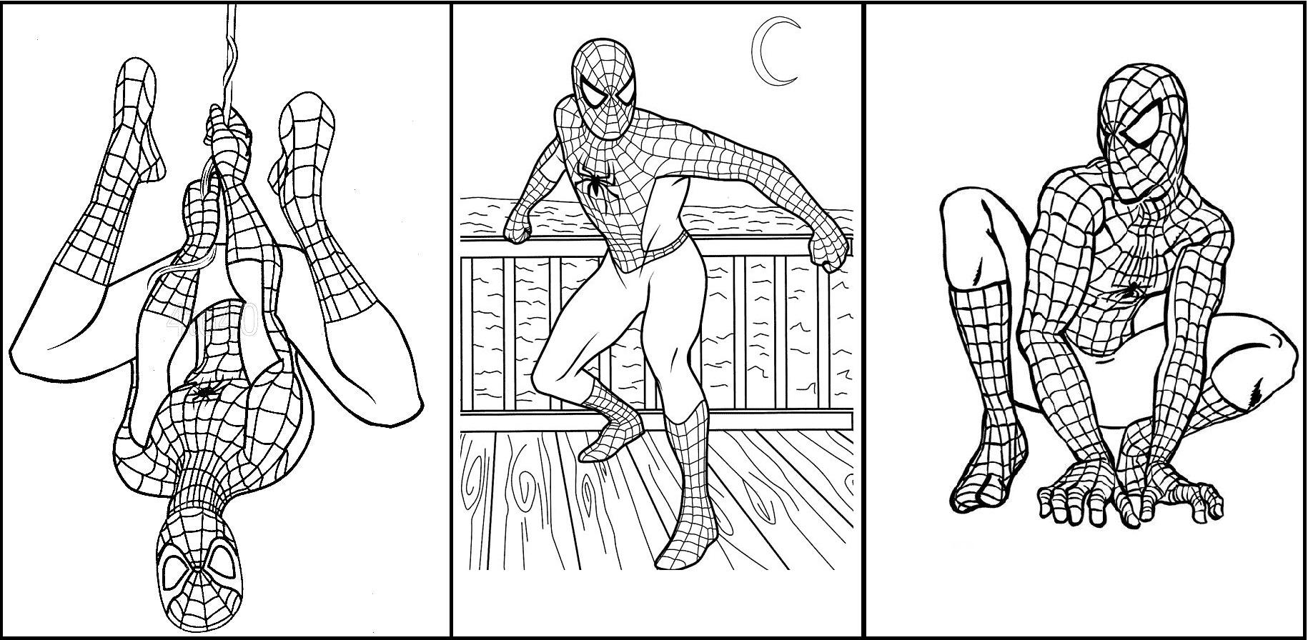 imagens do homem aranha preto e branco