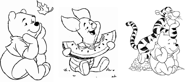 personagens pooh para crianças